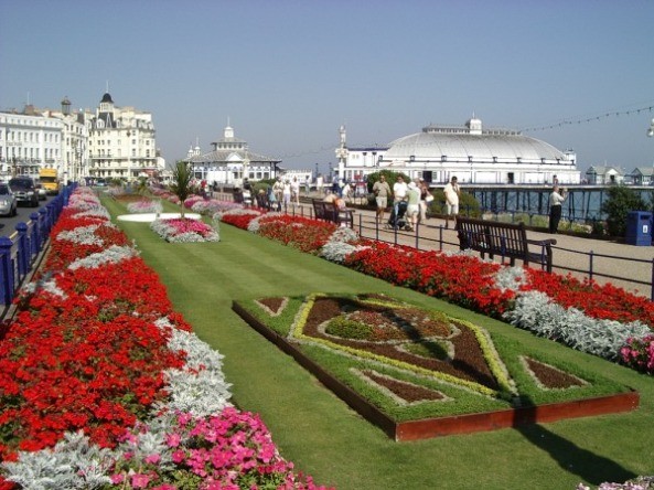 Eastbourne Grand Parade and the Pier on the background